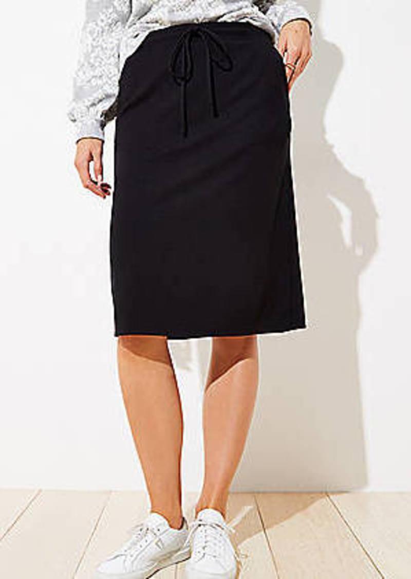 LOFT Petite Drawstring Pocket Pencil Skirt