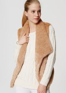 Petite Faux Fur Vest