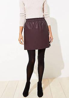 LOFT Petite Faux Leather Pull On Skirt