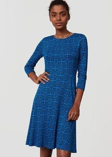 Petite Filigree Print Flare Dress