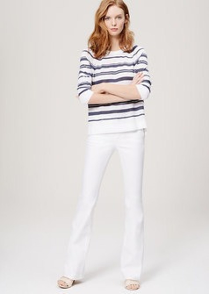 LOFT Petite Flare Jeans in White