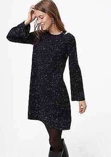 LOFT Petite Flecked Cutout Sweater Dress