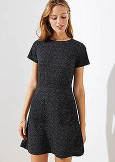 LOFT Petite Flecked Pocket Flare Dress