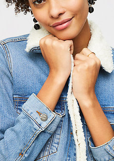Petite Fleece Lined Denim Jacket