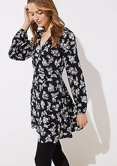LOFT Petite Floral Flare Wrap Dress