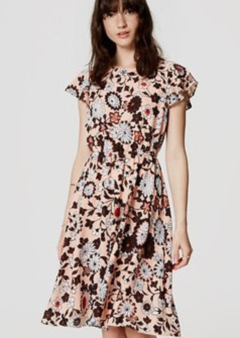 LOFT Petite Floral Flutter Dress