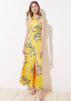 LOFT Petite Floral Halter Maxi Dress