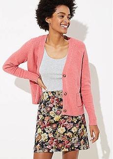 LOFT Petite Floral Jacquard Shift Skirt