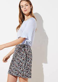 LOFT Petite Floral Lacy Pocket Shift Skirt