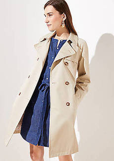 LOFT Petite Floral Lined Trench Coat