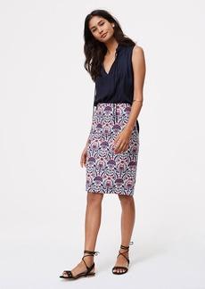 Petite Floral Mosaic Pencil Skirt