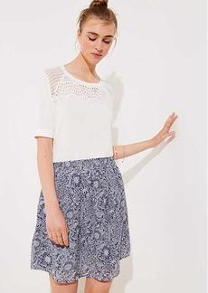 LOFT Petite Floral Pocket Pull On Skirt