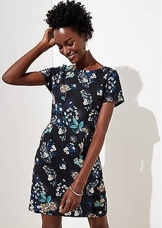 LOFT Petite Floral Scoop Back Pocket Dress