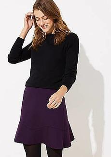 LOFT Petite Flounce Skirt