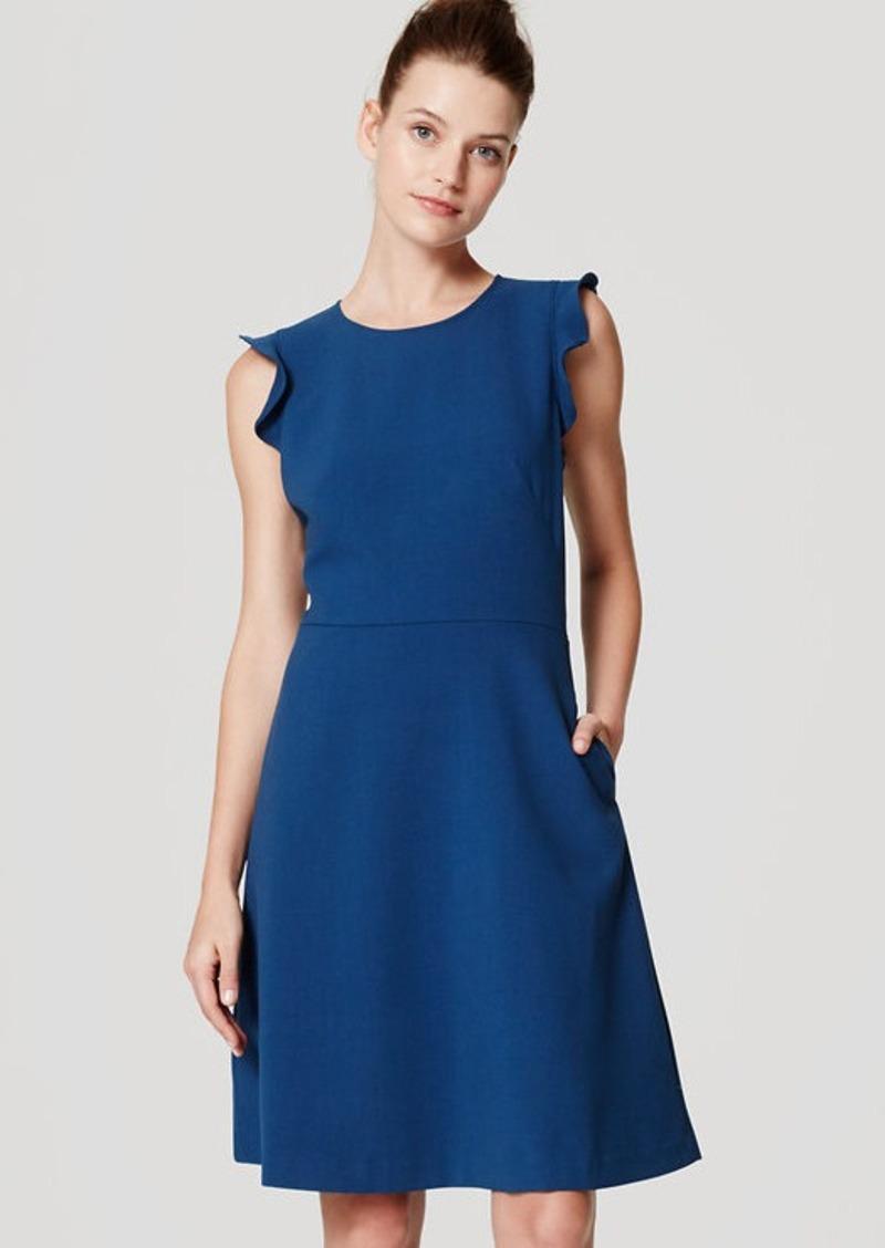 LOFT Petite Flutter Flare Dress