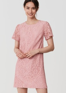 Petite Flutter Lace Dress