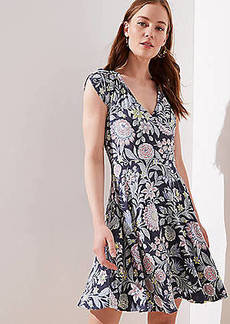 aa5cf5679c714 LOFT Petite Garden Crossover Back Flutter Dress