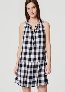 Petite Gingham Drop Waist Dress