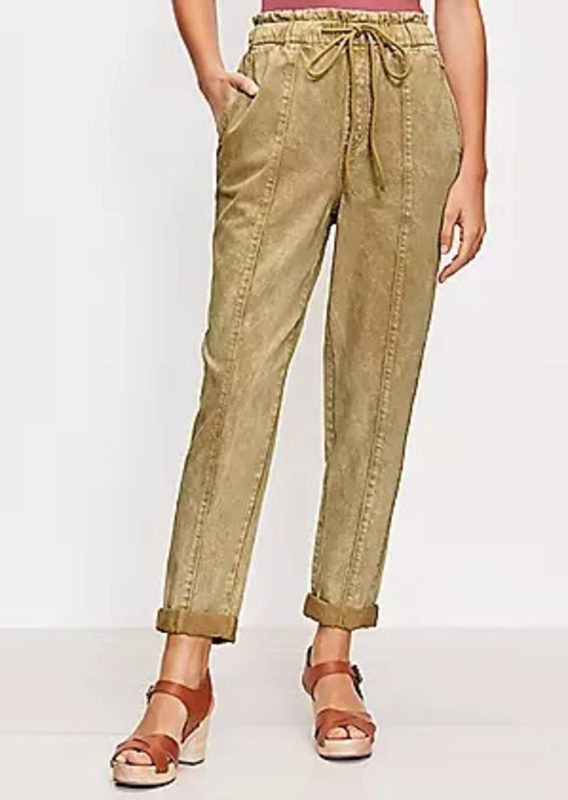 LOFT Petite High Rise Jogger Jeans in Warm Gold