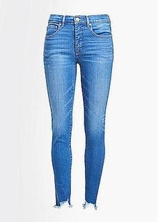 LOFT Petite High Rise Skinny Crop Jeans in Destructed Light Wash