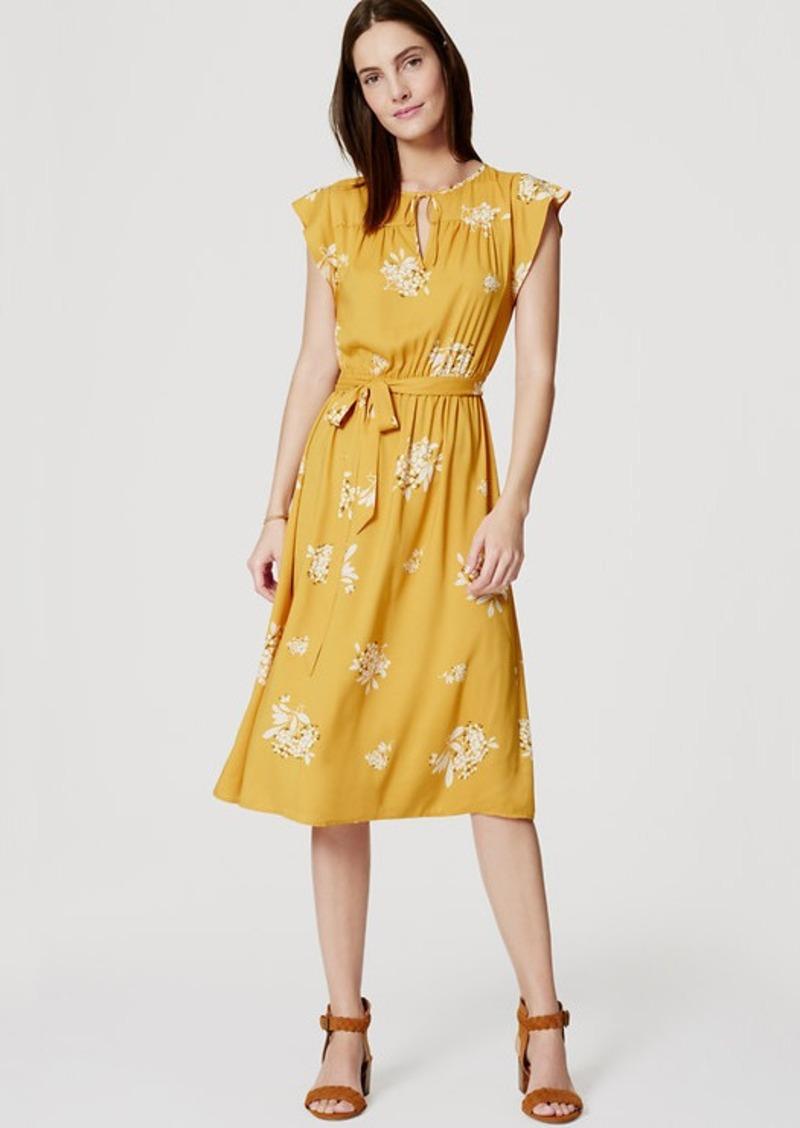 LOFT Petite Hydrangea Flutter Dress
