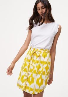 Petite Islander Tie Waist Button Skirt