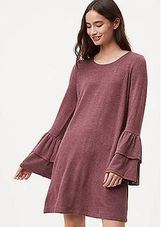 LOFT Petite Knit Bell Sleeve Dress