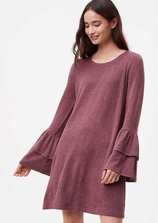 LOFT Petite Knit Bell Sleeve Dress