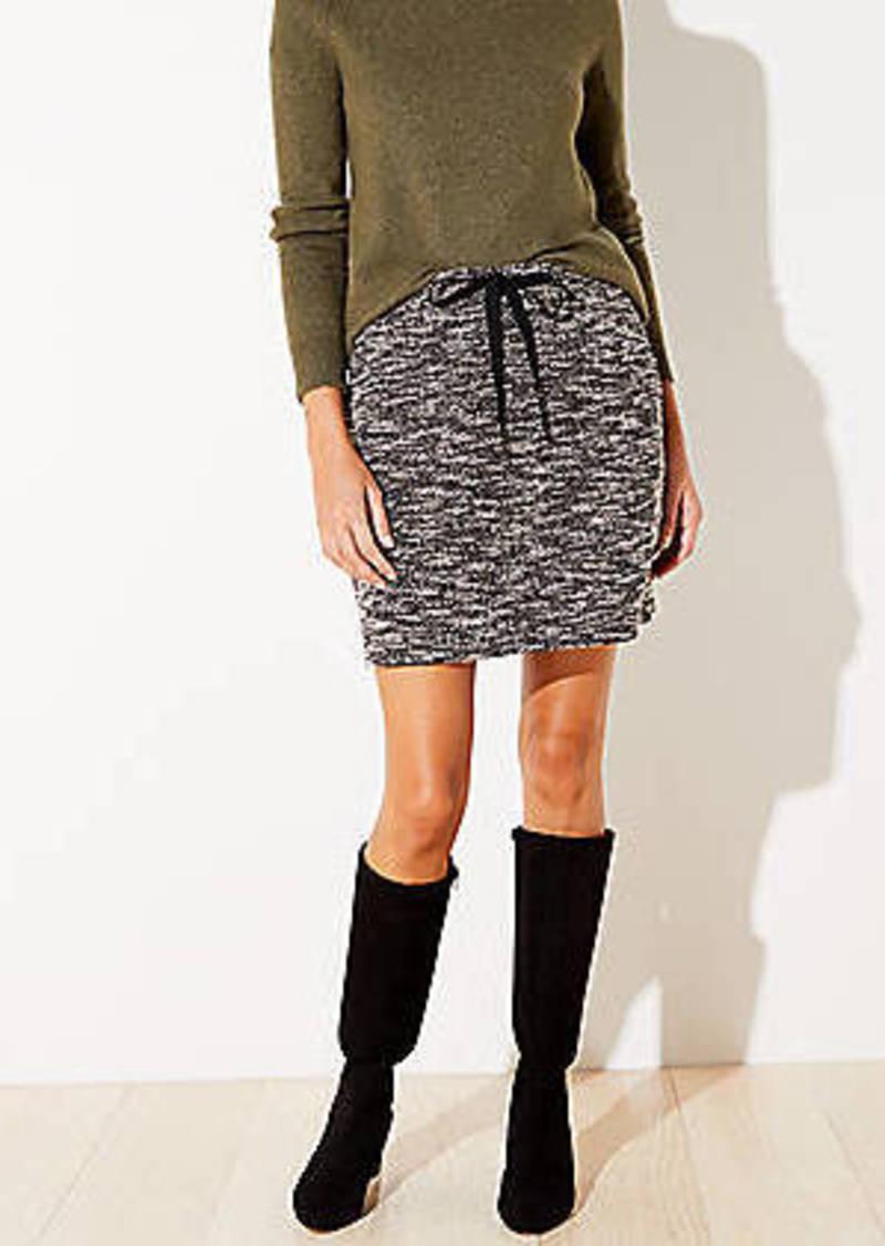 LOFT Petite Knit Jogger Skirt