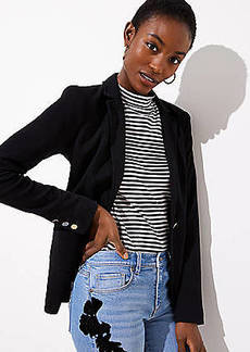 LOFT Petite Knit Pocket Blazer
