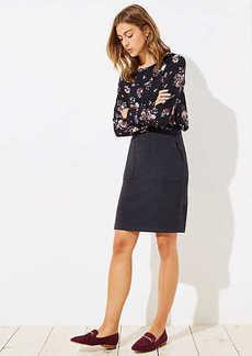 LOFT Petite Knit Pocket Pull On Pencil Skirt