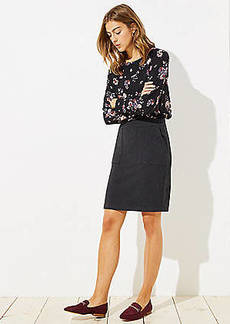 LOFT Petite Knit Pocket Pull On Pencil Skirt