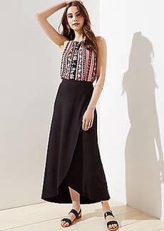 LOFT Petite Knit Wrap Skirt