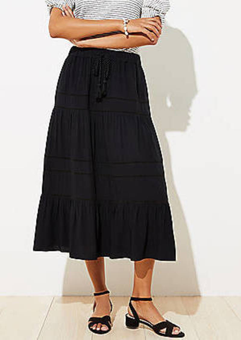 LOFT Petite Lacy Tassel Drawstring Skirt