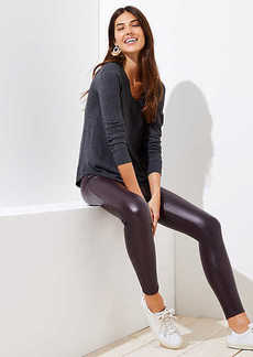 LOFT Petite Leggings in Faux Leather
