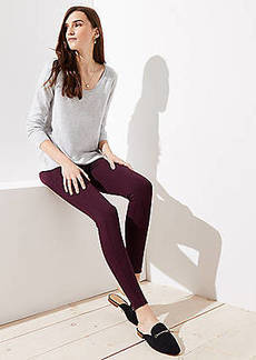 LOFT Petite Leggings in Heathered Seamed Ponte