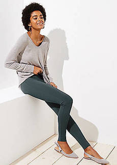 LOFT Petite Leggings in Seamed Ponte