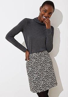 LOFT Petite Leopard Print Shift Skirt