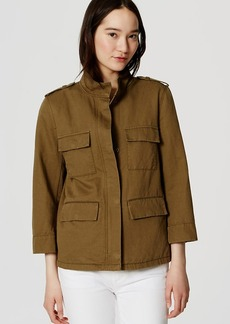 Petite Linen Cotton Cargo Jacket