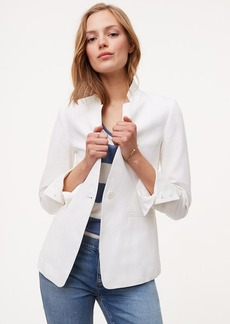 LOFT Petite Linen Cotton Notched Blazer