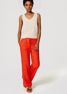 LOFT Petite Linen Drawstring Trousers