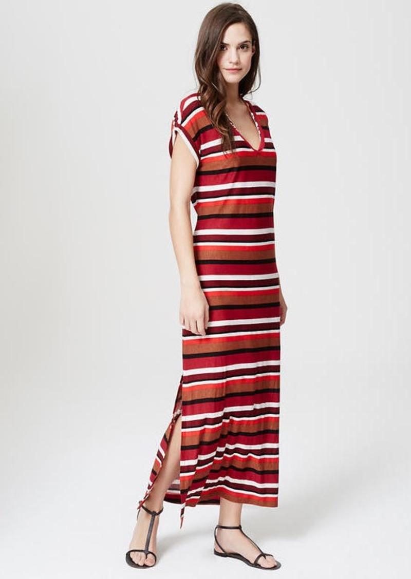Loft Petite Loft Beach Striped Tee Maxi Dress Dresses