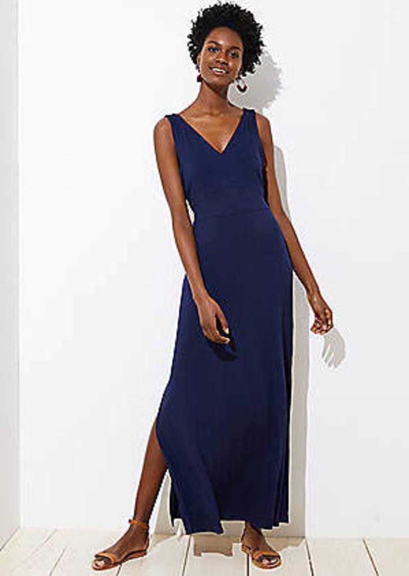 0359f1100dc LOFT Petite LOFT Beach Tie Waist Maxi Dress