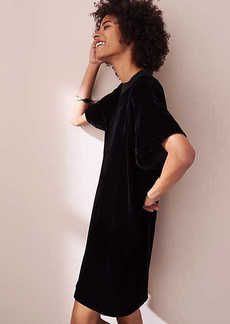 LOFT Petite Lou & Grey Velvet Tee Dress