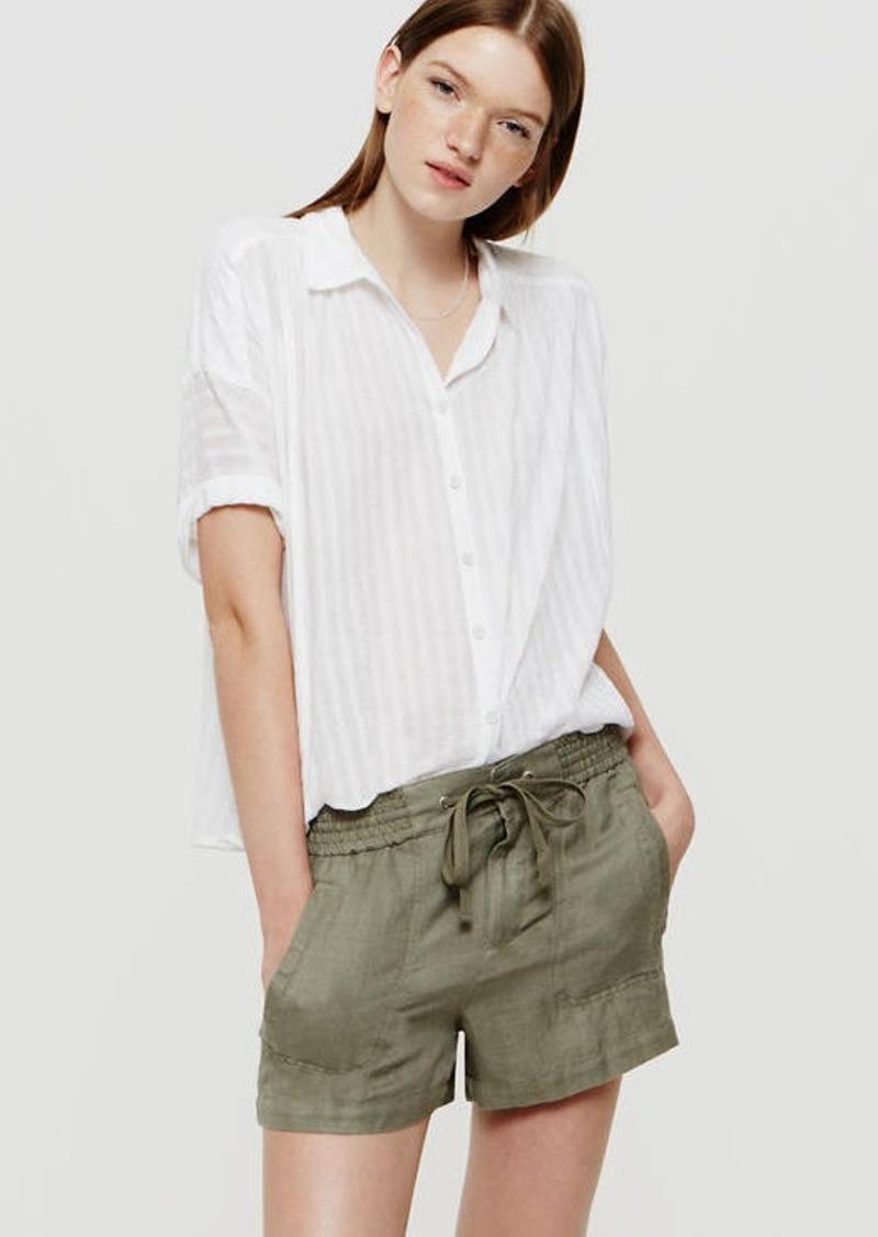 LOFT Petite Lou & Grey Brushed Linen Shorts