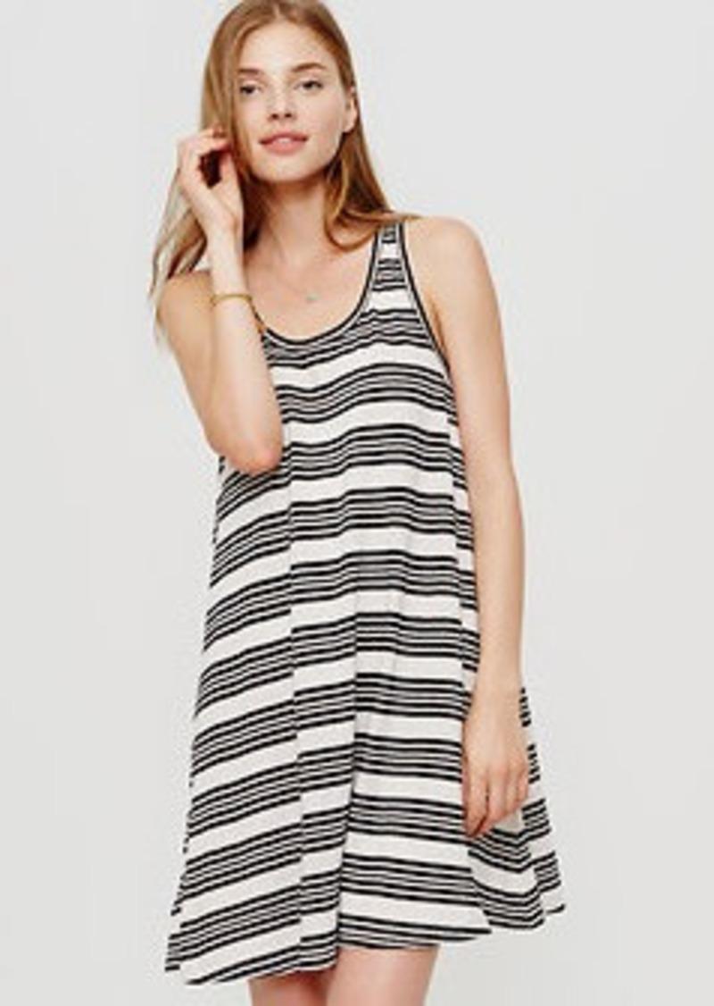 LOFT Petite Lou & Grey Striped Tank Dress