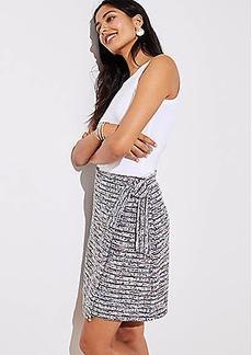 LOFT Petite Marled Stripe Wrap Skirt