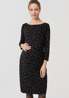Petite Maternity Geo Side Shirred Dress