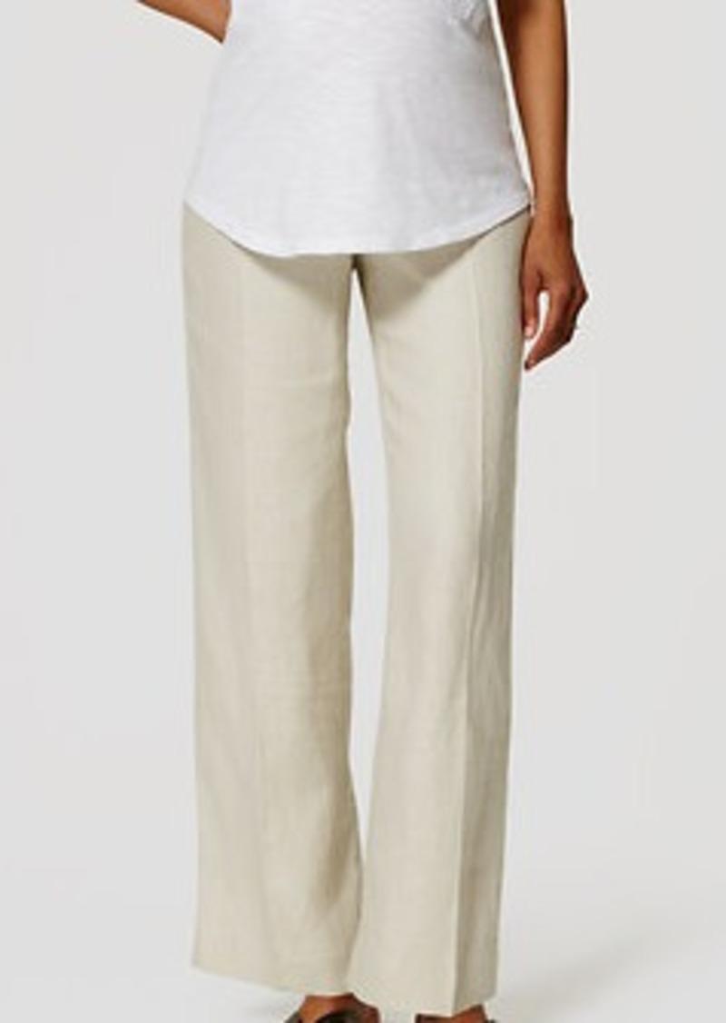 LOFT Petite Maternity Linen Trousers