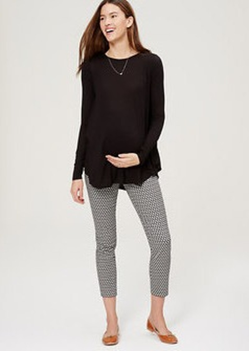 LOFT Petite Maternity Mosaic Skinny Ankle Pants